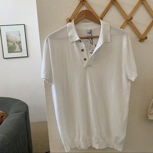 ZARA - men's polo white shirt